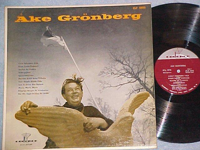 AKE GRONBERG--Self Titled NM/VG+ 1957 LP--Sweden music