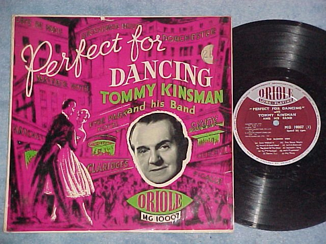 """TOMMY KINSMAN-PERFECT FOR DANCING-No 1-10"""" UK Oriole LP"""