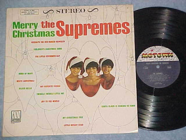 THE SUPREMES--MERRY CHRISTMAS--VG+ 1st Press Stereo LP