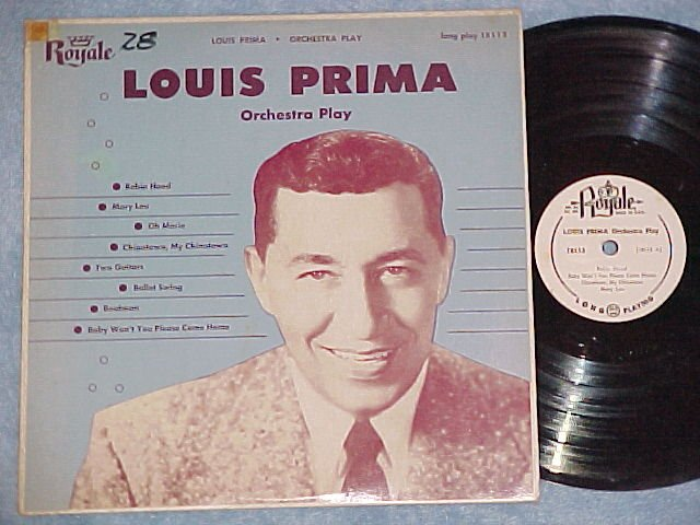 "LOUIS PRIMA--ORCHESTRA PLAY--10"" VG+ 1954 LP on Royale"
