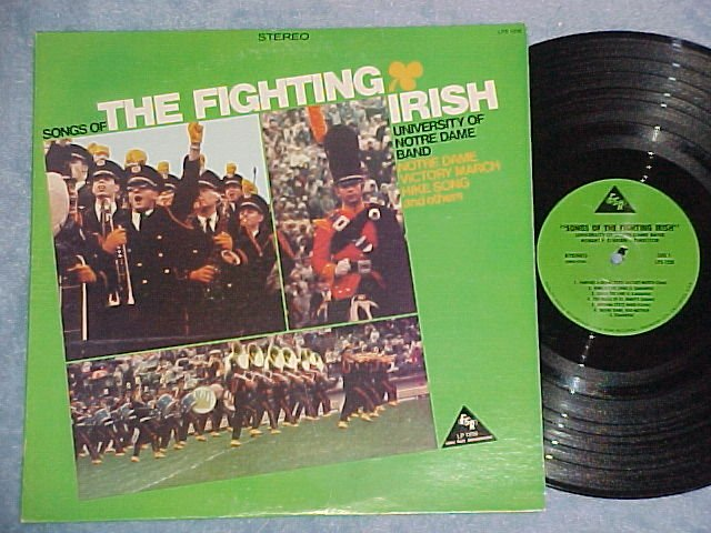 SONGS OF THE FIGHTING IRISH-Notre Dame Band--NM/VG++ LP