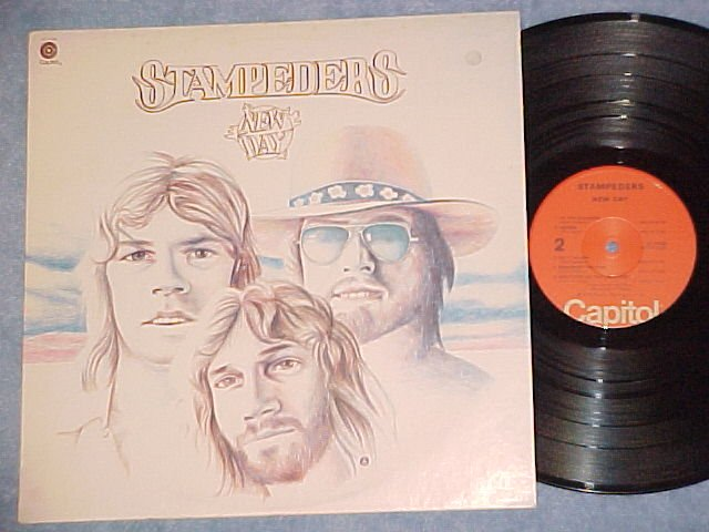 STAMPEDERS--NEW DAY--NM 1974 LP--Capitol ST-11328