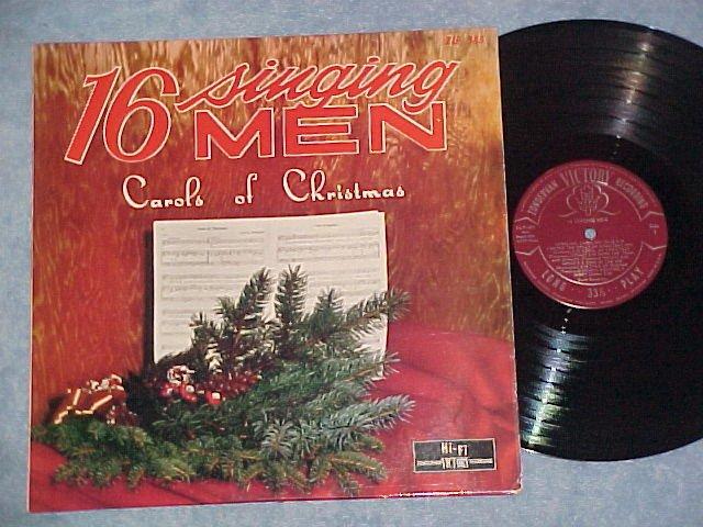 16 SINGING MEN-CAROLS OF CHRISTMAS-NM 60's Zondervan LP