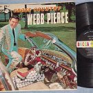 WEBB PIERCE--CROSS COUNTRY--VG/NM Mono 1962 LP on Decca