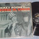 MICKEY ROONEY SINGS GEORGE M. COHAN-VG++ 1957 LP on RCA