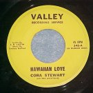 45-CORA STEWART/LYNN READY w/Overtones--Valley 348--VG+
