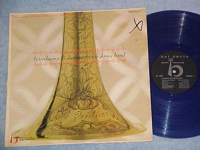 INTRODUCING SI ZENTNER--VG+ Stereo 1959 LP--Blue Vinyl