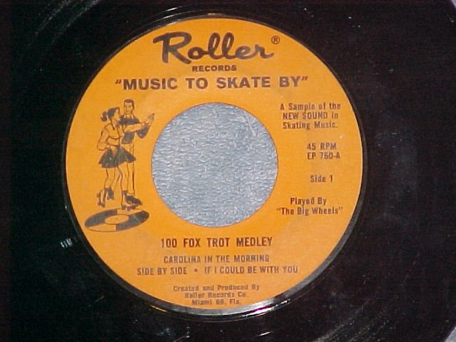 EP-THE BIG WHEELS--MUSIC TO SKATE BY-Roller Records--NM