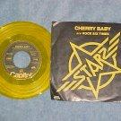 Yellow Vinyl 45 w/PS--STARZ--CHERRY BABY--1977--NM/VG+