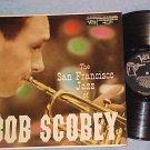 SAN FRANCISCO JAZZ OF BOB SCOBEY-1957 LP-Verve tpt logo