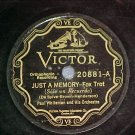 78-PAUL WHITEMAN-JUST A MEMORY-Victor Scroll 20881--VG+