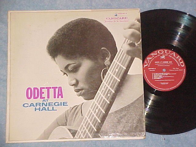 ODETTA AT CARNEGIE HALL--VG++/VG 1961 LP--Vanguard 9076