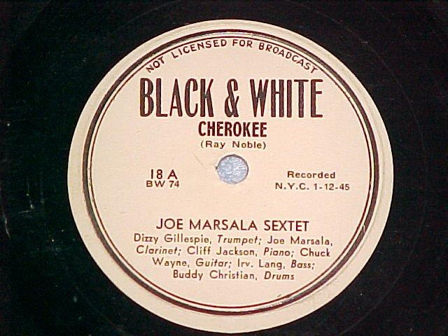 78--JOE MARSALA SEXTET--CHEROKEE--Black & White 18--VG+