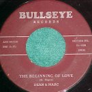 45-DEAN AND MARC-THE BEGINNING OF LOVE/CRY-Bullseye1026