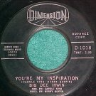 45-BIG DEE IRWIN-YOU'RE MY INSPIRATION--1963-Promo--VG+