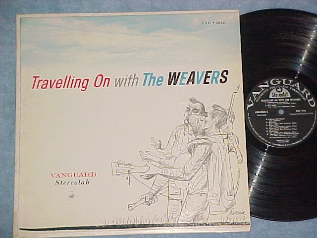TRAVELLING ON WITH THE WEAVERS--NM/VG++ Stereo 1959 LP