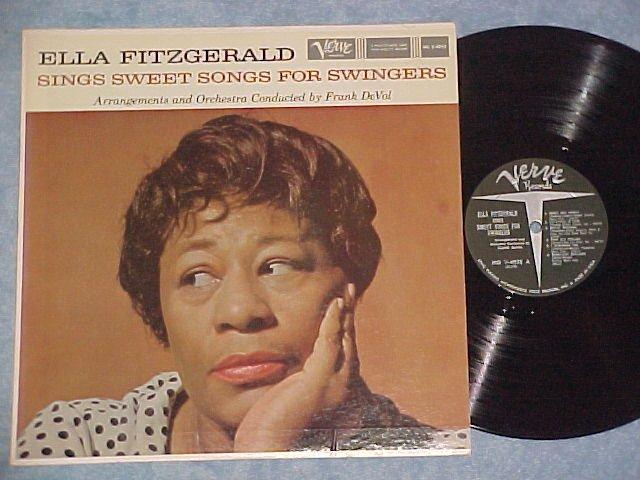ELLA FITZGERALD SINGS SWEET SONGS FOR SWINGERS--1959 LP