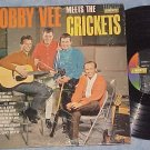 BOBBY VEE MEETS THE CRICKETS--VG+ 1962 LP on Liberty