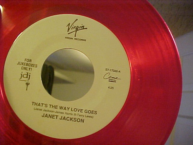 Red WL Promo 45--JANET JACKSON-THAT'S THE WAY LOVE GOES