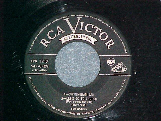 EP-SLIM WHITMAN--RCA Victor 547-0409-(Half of Rare Set)