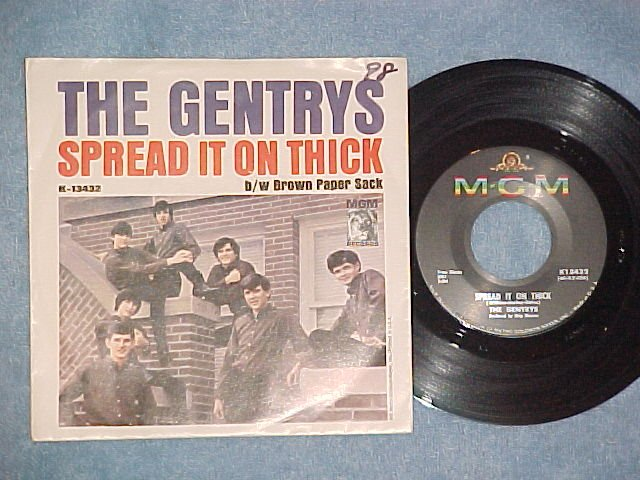 NM/VG++ 45 w/PS-THE GENTRYS-SPREAD IT ON THICK-1965-MGM