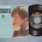 NM/VG++ 45 w/PS-HERMAN'S HERMITS-THERE'S A KIND OF HUSH