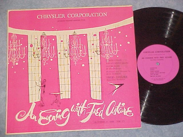 AN EVENING WITH FRED ASTAIRE-VG+ '58 Chrysler TV Sdk LP