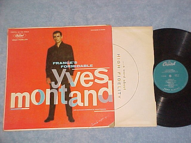 FRANCE'S FORMIDABLE YVES MONTAND--s/t 1958 LP--Capitol