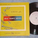 "GREAT TRUMPET ARTISTS--10"" NM/VG+ 1951 Compilation LP"