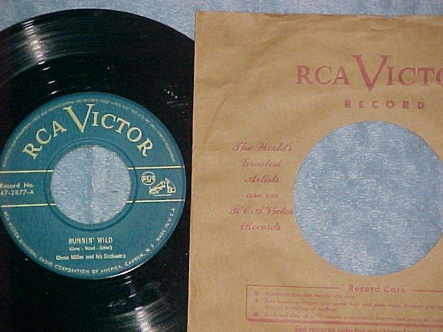 45--GLENN MILLER--RUNNIN' WILD--RCA Victor 47-2877--NM