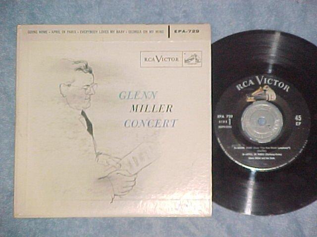 EP w/PS--GLENN MILLER CONCERT-1956--RCA EPA-729--NM/VG+