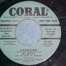 45-LES BROWN-CARAVAN--1954-Coral 61162-Blue Label Promo