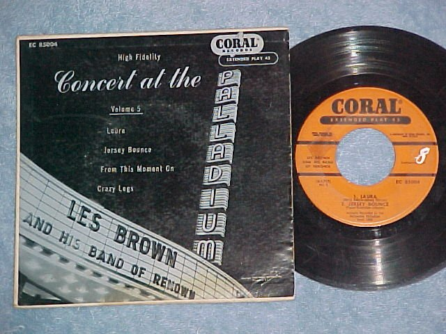 EP w/PS-LES BROWN-CONCERT AT THE PALLADIUM-Vol. 5-Coral