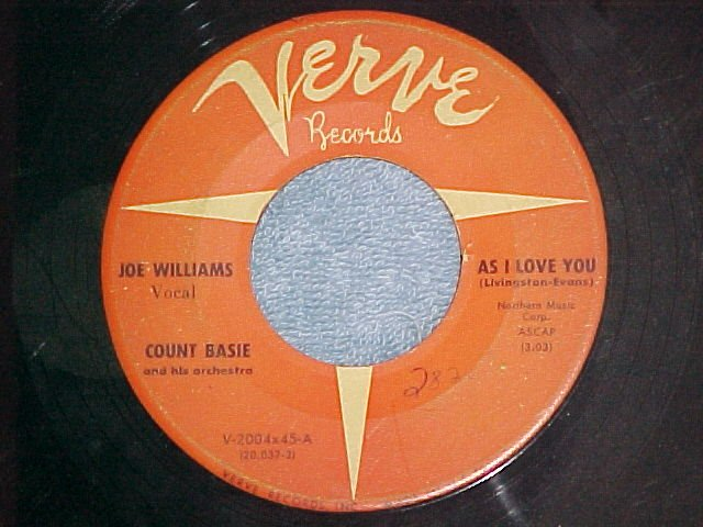 45--COUNT BASIE WITH JOE WILLIAMS--AS I LOVE YOU--Verve