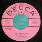 45-THE SENIORS-I'VE LIVED BEFORE-Decca 31112--Promo--NM