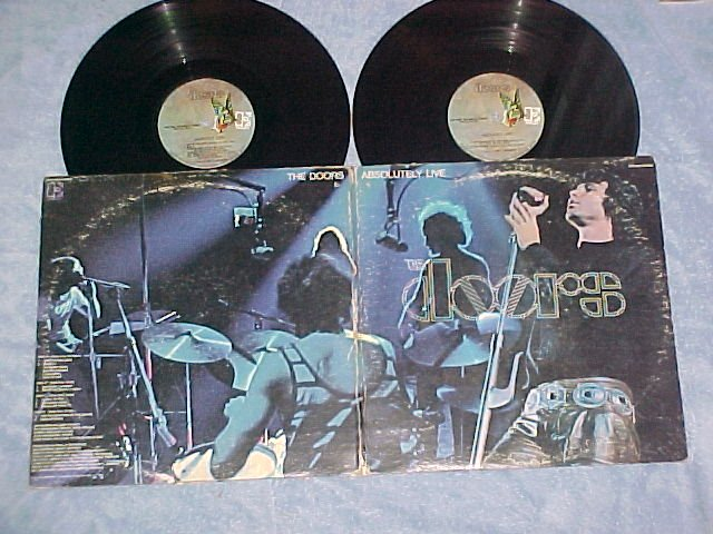THE DOORS-ABSOLUTELY LIVE-VG+/VG 1970 Double LP-Elektra