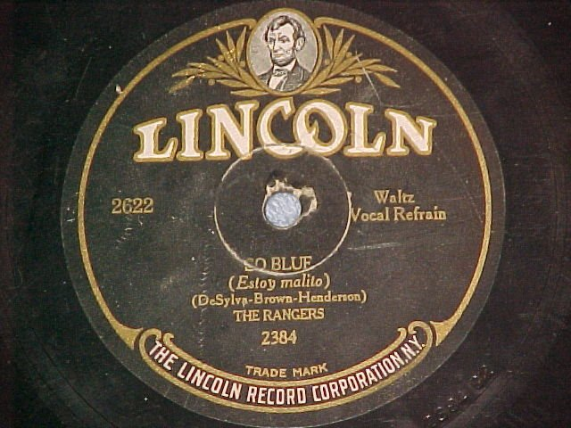 78-THE RANGERS-SO BLUE/WHAT DOES IT MATTER-Lincoln 2622