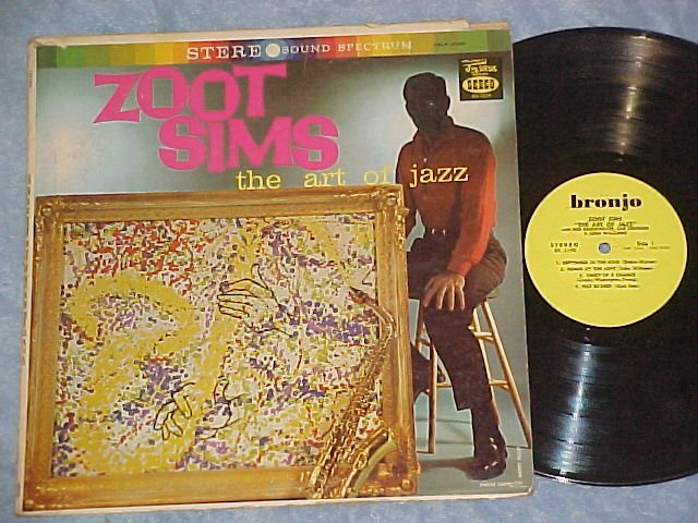 ZOOT SIMS--THE ART OF JAZZ--Stereo 1960 Bronjo/Seeco LP