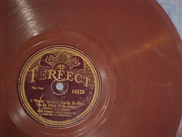 Brown Wax 78--MIKE SPECIALE&HIS ORCHESTRA-Perfect 14526