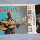 JOSH WHITE LIVE!--VG++/VG+ Stereo 1962 ABC-Paramount LP