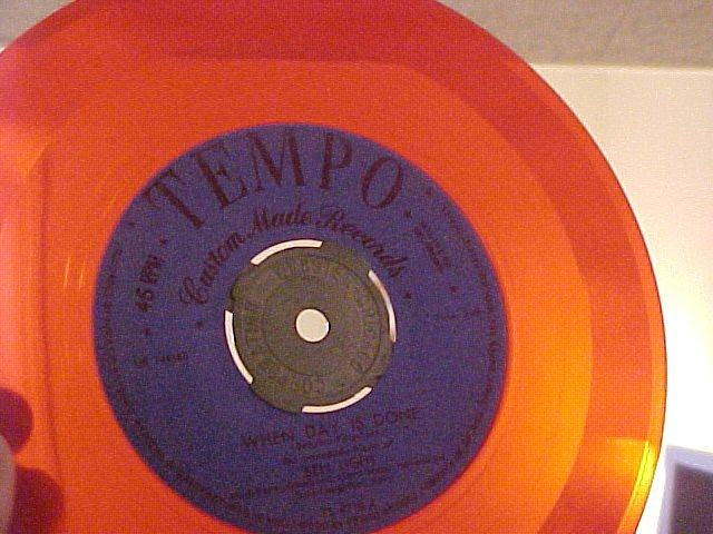 45-BEN LIGHT-WHEN DAY IS DONE-Tempo 4710-Red Vinyl-VG++