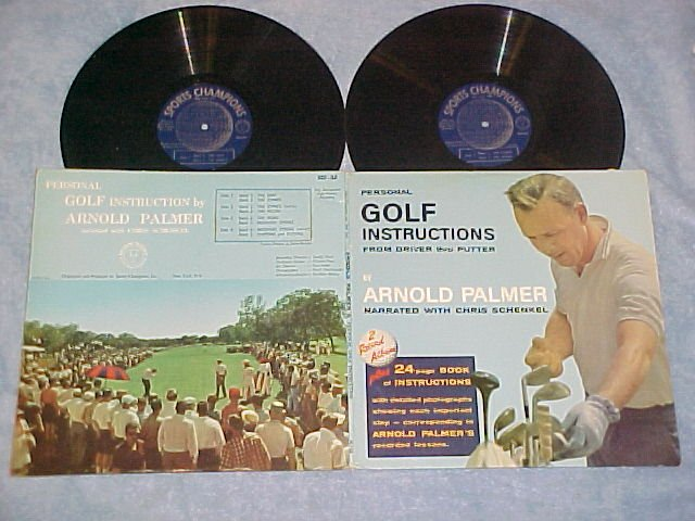 ARNOLD PALMER--GOLF INSTRUCTIONS--1962 Double LP w/Book