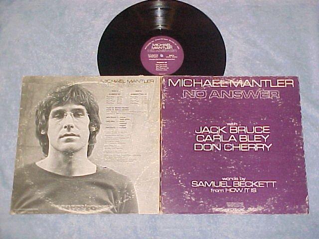 MICHAEL MANTLER-NO ANSWER-1974 LP-Jack Bruce,Don Cherry