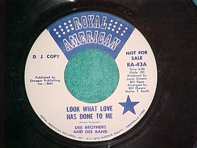 45-DEE BROTHERS-LOOK WHAT LOVE HAS DONE TO ME--WL Promo