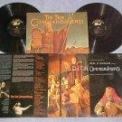 THE TEN COMMANDMENTS--VG+ 1956 Sdk Dbl LP ~w/BOOKLET~