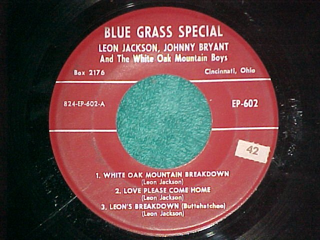 EP-JIMMY MARTIN/LEON JACKSON-Blue Grass Special602-VG++
