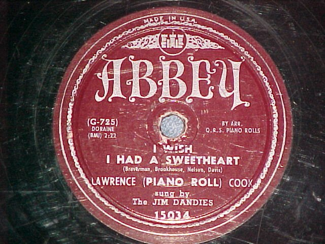 78-J LAWRENCE COOK-HOW MANY Gs IN PEGGY,PAW-Abbey 15034