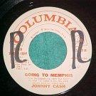 45-JOHNNY CASH-GOING TO MEMPHIS-Rare Radio Station Copy