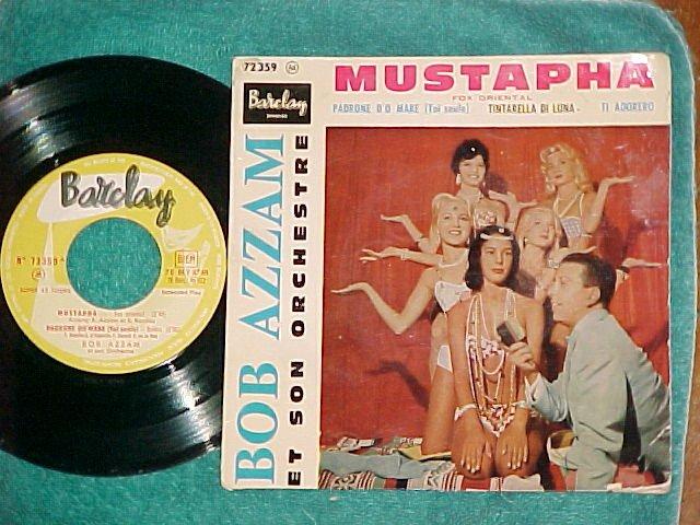 France EP w/PS-BOB AZZAM-MUSTAPHA-1960-VG+ ~Cheesecake~
