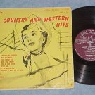 "COUNTRY AND WESTERN HITS-10"" 1955 LP-Waldorf Music Hall"